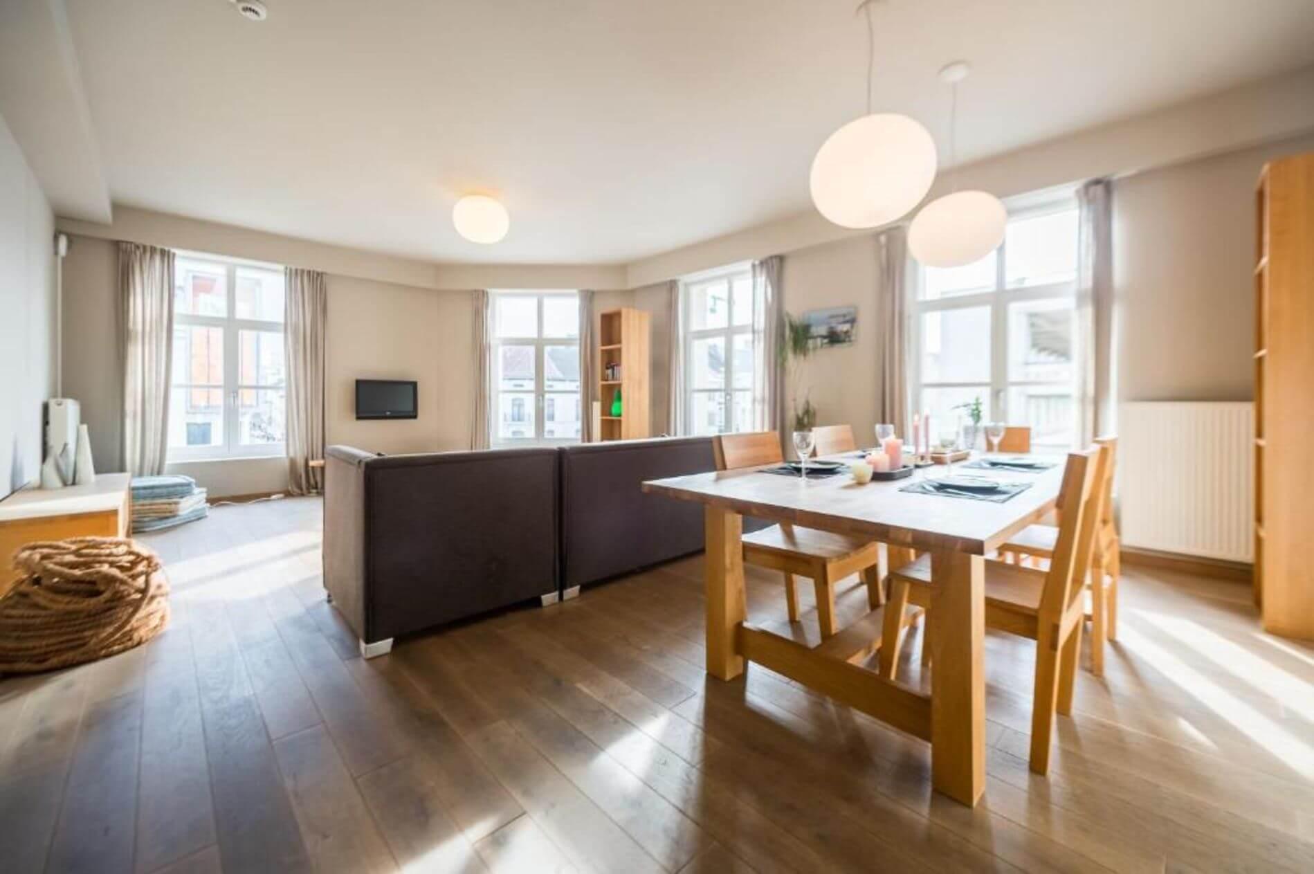 121 m2 Apartment rental in Antwerp with 2 bedrooms