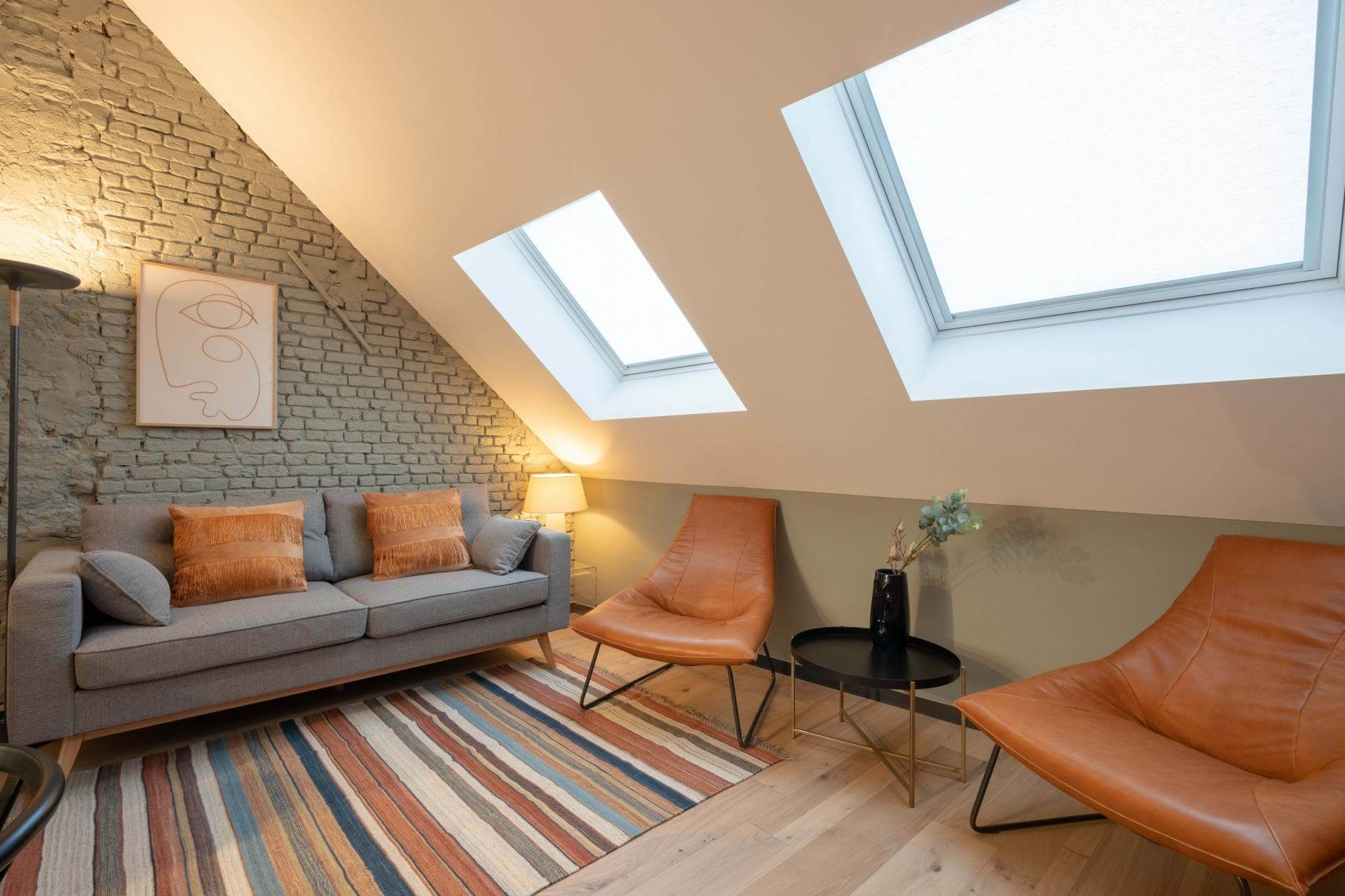Duplex rental accommodation in Antwerp ideal for families of up to 4