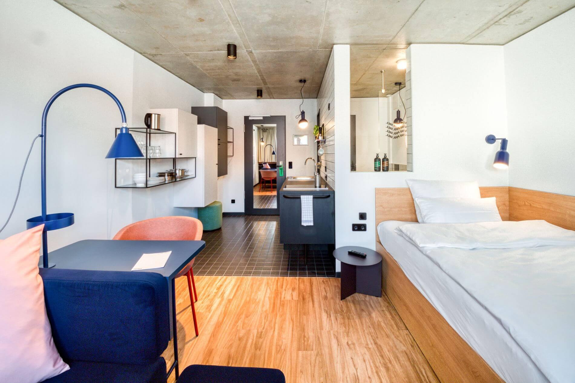 Studio serviced apartment in Friedrichshain, Berlin for long term stays