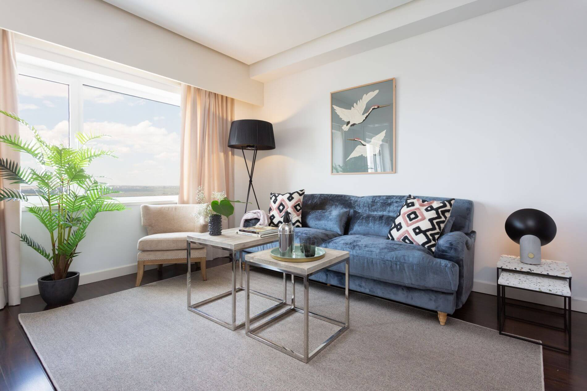 Serviced apartment in Madrid with great views and a gym in the building