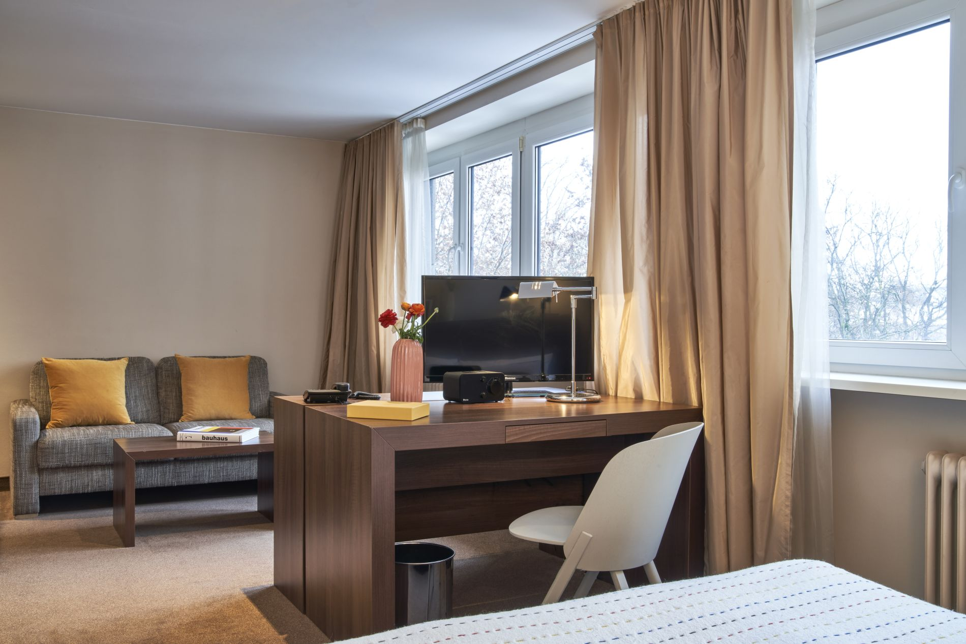 Serviced accommodation in the heart of Frankfurt with a gym in the building