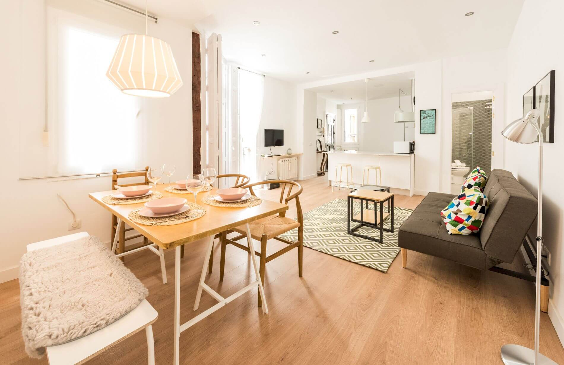 1 bed serviced apartment for short stays in Chueca, Madrid