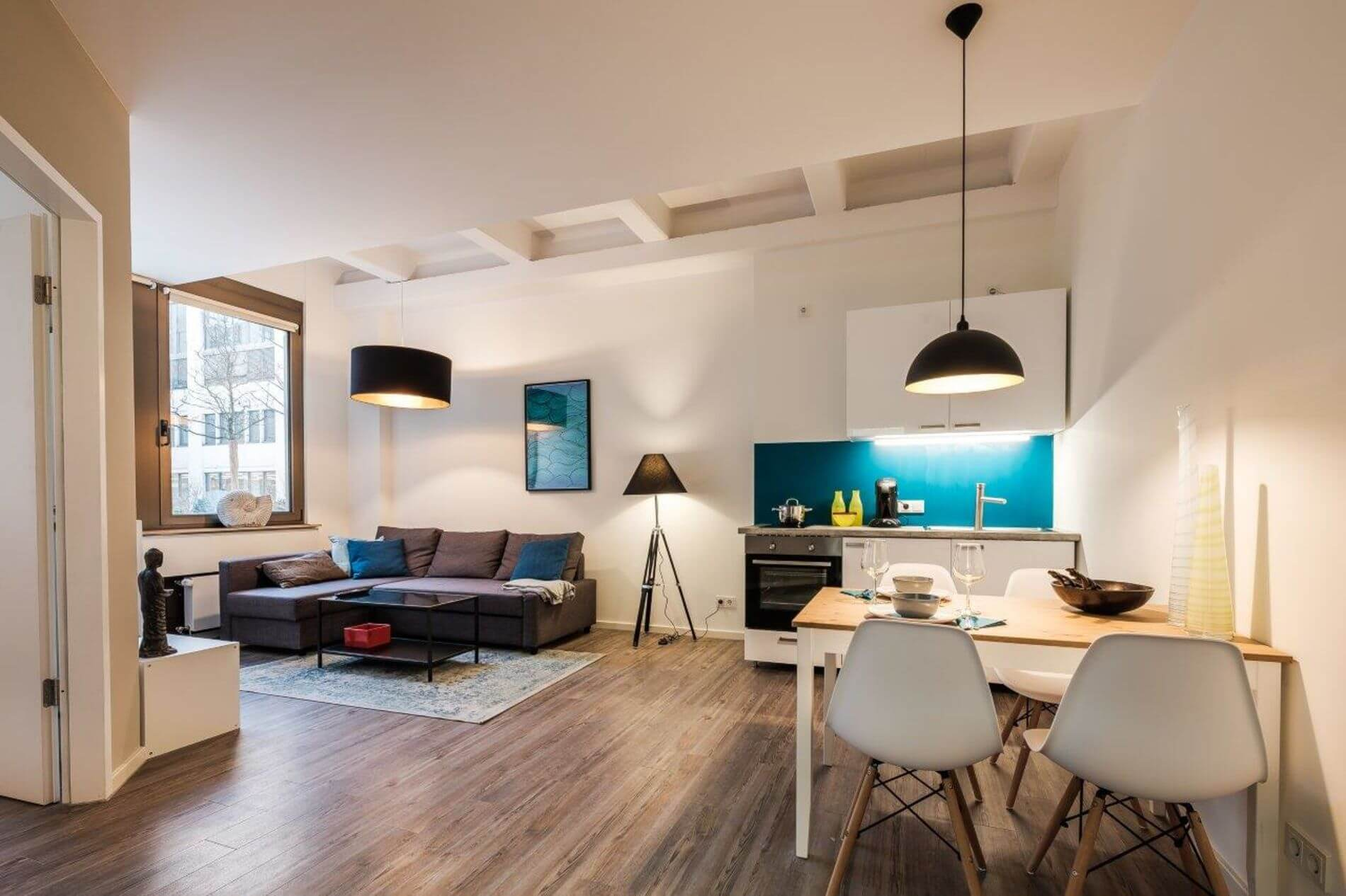 1 bed penthouse apartment in a residential neighborhood in Munich