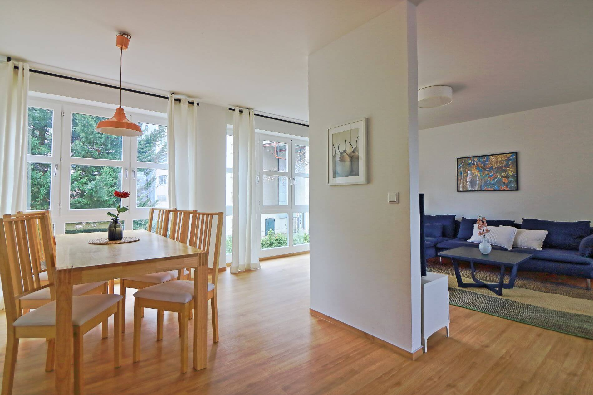 Furnished 3 room rental near Checkpoint Charlie