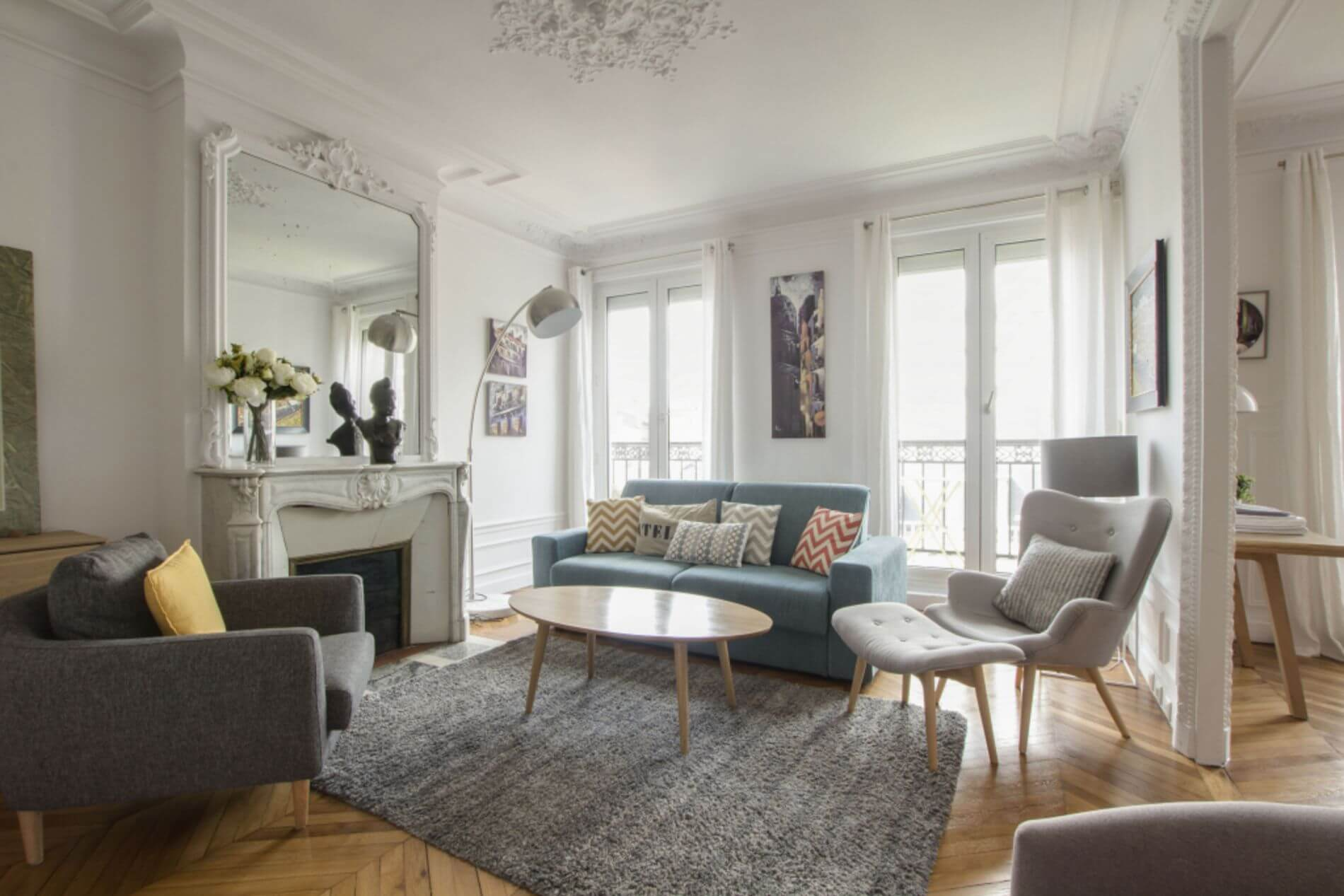 Furnished 2 bed flat in Cambacérès, Paris
