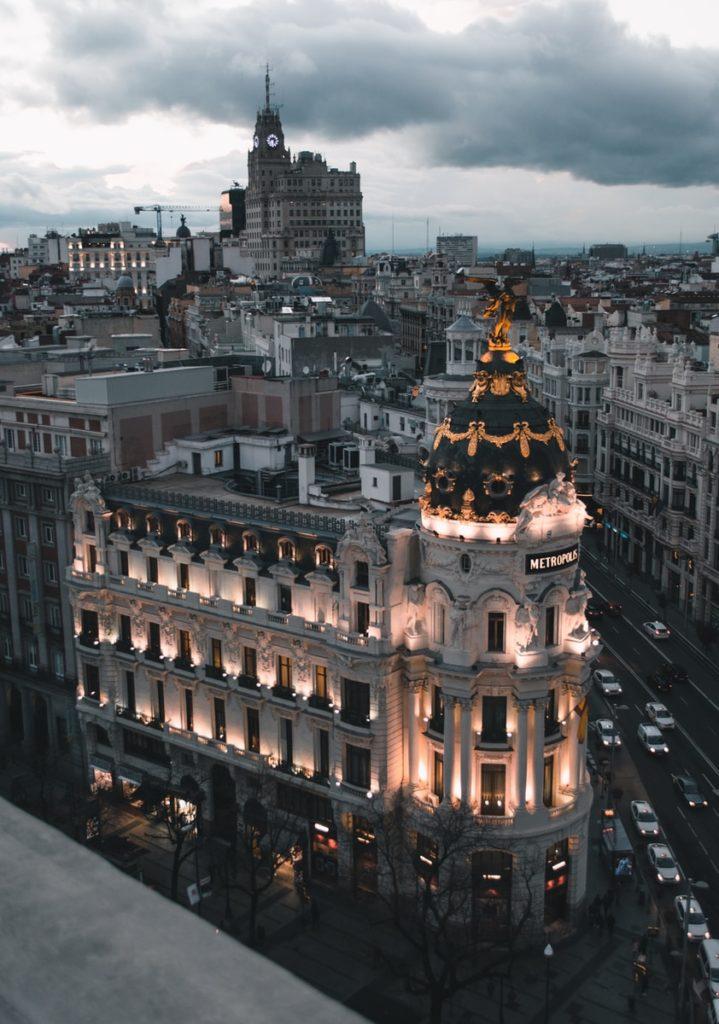 Beautiful view of Madrid