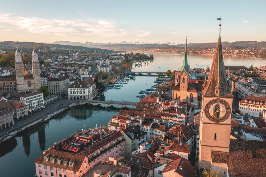 Living in Zurich: Ariel view of Zurich neighborhoods