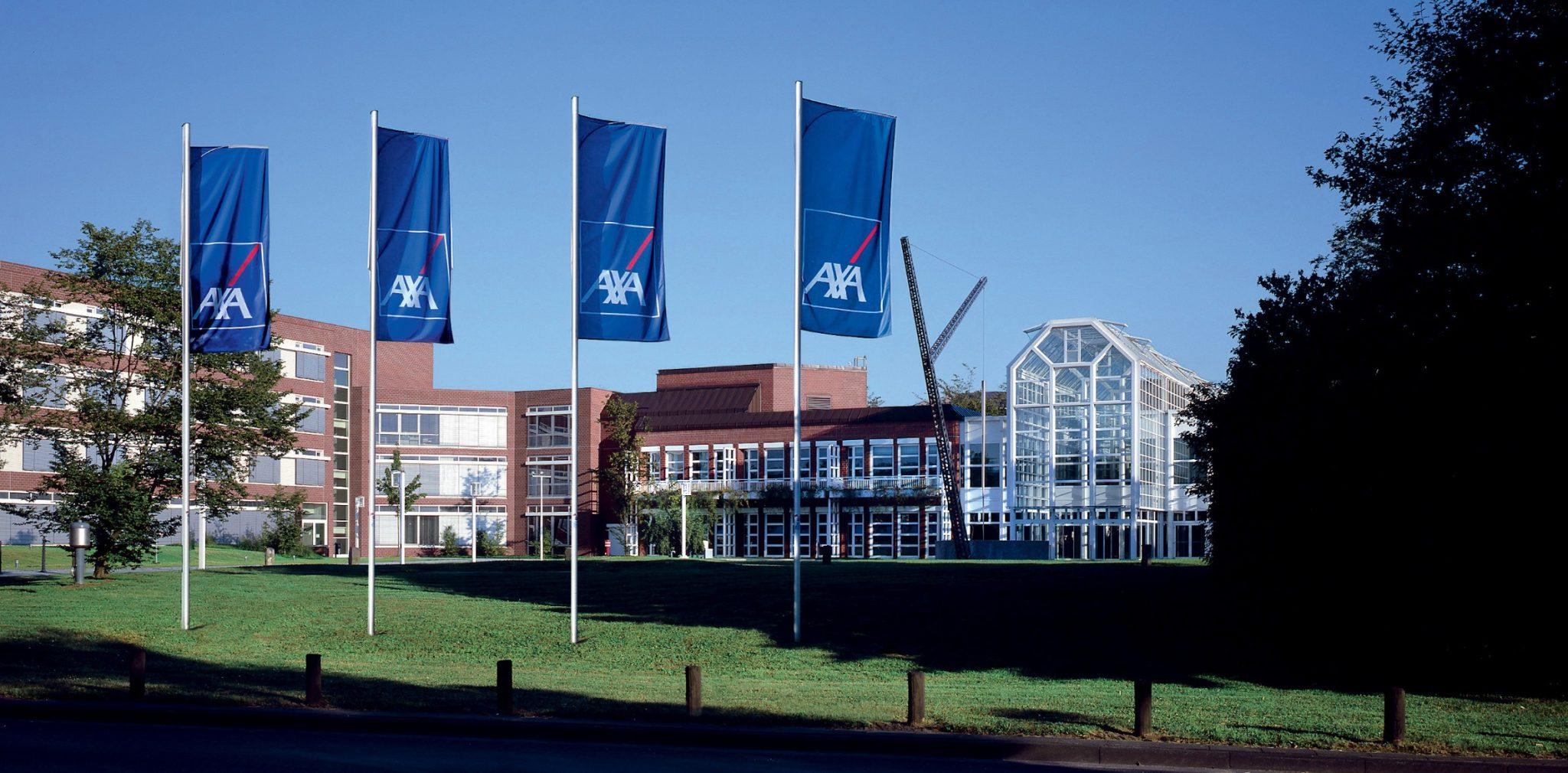 Hier würden Sie das AXA Hauptverwaltungsgebäude sehen