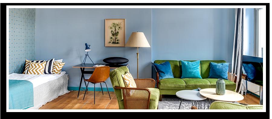Hier würden Sie ein möbliertes Apartment sehen, dass die Homelike Apartment Standards erfüllt