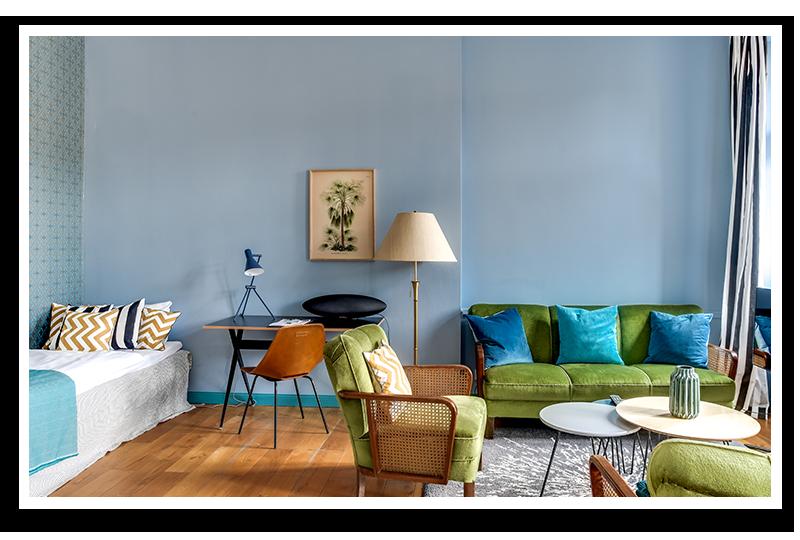 Hier würden Sie ein möbliertes Apartment von Homelike sehen, dass den Homelike Apartment Standards entspricht