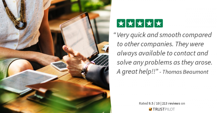 Here you would see a Trustpilot Review about Homelike