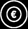 Ein Icon mit einem Euro, das zeigt wie einfach und sicher man bei Homelike zahlen kann