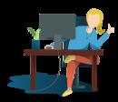 woman-at-computer-illustration