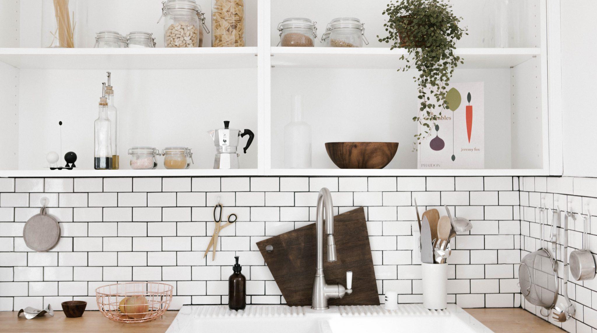 modern furnished apartment kitchen