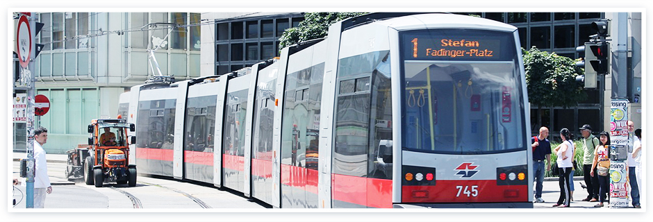 Here you would see a picture of the tram in Vienna