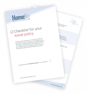 Travel policy checklist for companies
